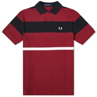 Fred Perry Authentic Bold Stripe Polo Burgundy