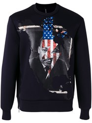 Neil Barrett Martin Luther King Sweatshirt Men Polyurethane Viscose 50 Black