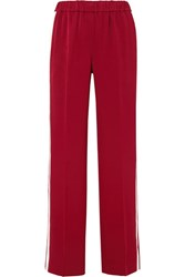 Elizabeth And James Kelly Striped Crepe Track Pants Red