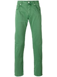 Jacob Cohen Tapered Jeans Men Cotton Spandex Elastane 40 Green