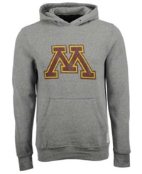 Retro Brand Men's Minnesota Golden Gophers Tri Blend Fleece Hoodie Gray