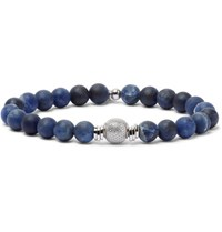 Tateossian Stonehenge Jasper And Sterling Silver Bracelet Blue