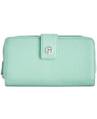 Giani Bernini Softy Leather All In One Wallet Only At Macy's Mint Macaroon