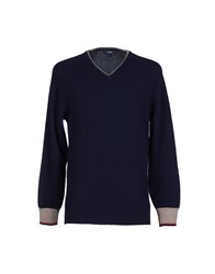 Silas Knitwear Jumpers Men Dark Blue