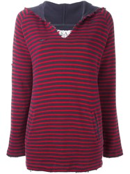 Zoe Karssen Striped Hoodie Red