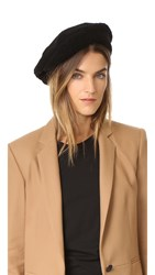Rag And Bone Shearling Beret Black