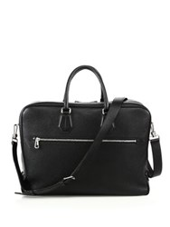 Bally Sagistal Grained Calf Leather Briefcase Black