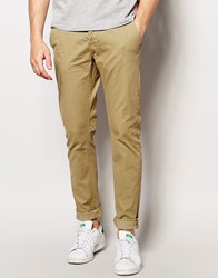Only And Sons Chinos In Skinny Fit Stone Beige