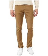 Michael Kors Skinny Five Pocket Twill Husk Men's Casual Pants Brown