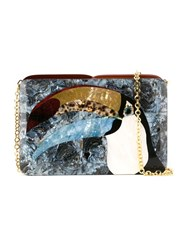 Serpui Mother Of Pearl Clutch Bag Black