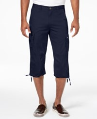 Inc International Concepts I.N.C. Men's Extra Long Messenger Shorts Created For Macy's Basic Navy