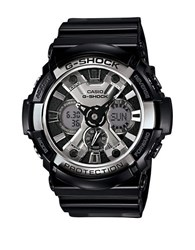 G Shock Mens Xl Black And Silver Ana Digi Watch