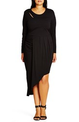 City Chic Plus Size Women's 'Wrapped Up' Asymmetrical Jersey Dress
