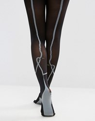 Jonathan Aston Jonathon Safety Pin Tights Black Grey