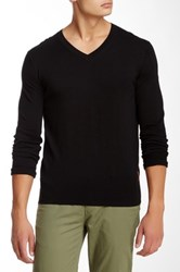 Ben Sherman Knit Elbow V Neck Pullover Black