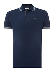 Duck And Cover Duran Short Sleeve Classic Polo Shirt French Navy