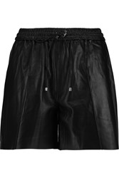 Victoria Beckham Leather Shorts Black
