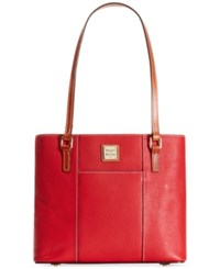 Dooney And Bourke Pebble Small Lexington Tote Red
