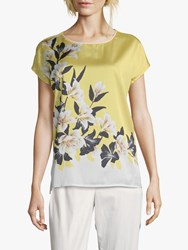 Betty And Co. Floral Print Top Yellow