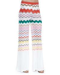 Missoni Mare Wavy Pattern Pull On Pants