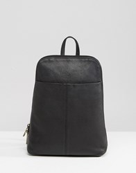 Asos Mini Leather Backpack Black