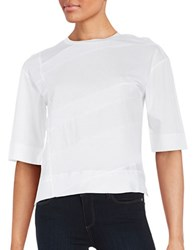 Dkny Panel Accented Tee White