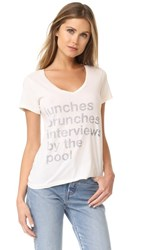 Sol Angeles Poolside V Neck Tee White