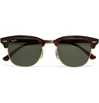 Ray Ban Clubmaster Acetate And Metal Sunglasses Tortoiseshell