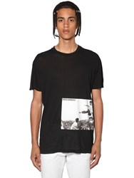Dsquared Bruce Lee Printed Cotton Jersey T Shirt Black