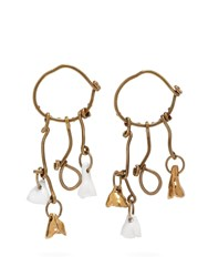Marni Mismatched Charm Earrings Gold