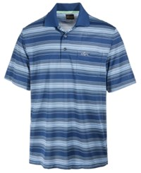 Greg Norman For Tasso Elba Men's Roadmap Performance End On End Stripe Polo Only At Macy's Blue Socket