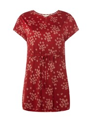 White Stuff Summer Flow Jersey Tunic Red