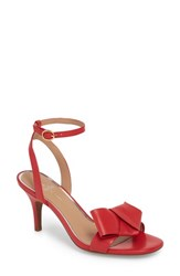 Linea Paolo Haven Ankle Strap Sandal Red Leather