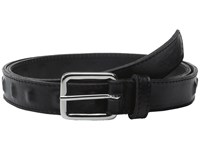 The Kooples Metal And Smooth Leather Belt Black