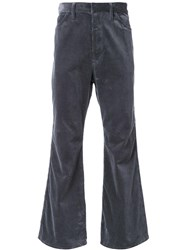 H Beauty And Youth. Flared Corduroy Trousers Grey