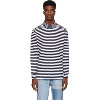 Paa Navy And White Striped Turtleneck