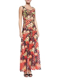 Jean Paul Gaultier Floral Dotted Mesh Maxi Coverup