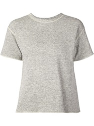 Nlst Short Sleeve Sweater Grey
