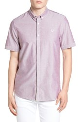 Fred Perry Men's Oxford Sport Shirt Rosewood