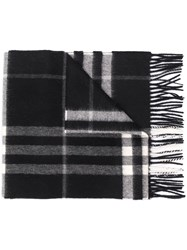 Burberry Giant Check Cashmere Scarf Black