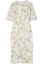 Georgia Alice Pageant Floral Print Sequined Tulle Midi Dress White