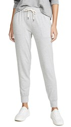 Splendid Super Soft French Terry Joggers Heather Grey