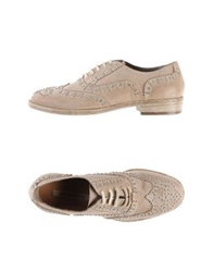 Progetto Lace Up Shoes Beige