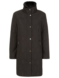 Windsmoor Hexagon Quilted Coat Black