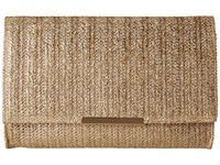 Jessica Mcclintock Nora Straw Clutch Gold Straw Clutch Handbags Brown