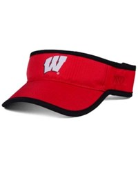 Top Of The World Wisconsin Badgers Baked Visor Red