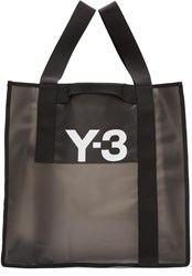 Y 3 Black Beach Tote Bag