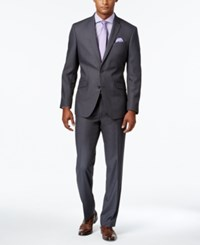 Kenneth Cole Reaction Men's Slim Fit Medium Gray Suit Grey
