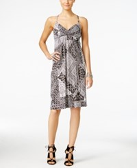 Inc International Concepts Printed Surplice Sheath Dress Only At Macy's Broken Mosaic