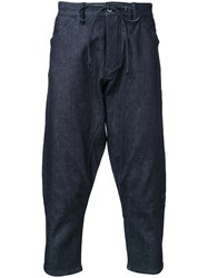 Kazuyuki Kumagai Cropped Denim Trousers Blue